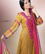 Dawood Textiles Chiffon Lawn Collection 2013 Volume 4 For Women 0010