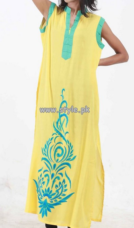 Black and White Couture Kurtaan Collection 2013 For Girls 002