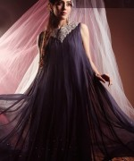 Black & White Couture Winter Dresses 2013 For Women  001