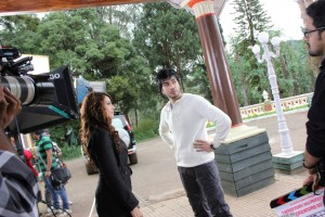 Imran Abbas On the Set Of Creature 13