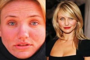 Cameron Diaz With&without makeup