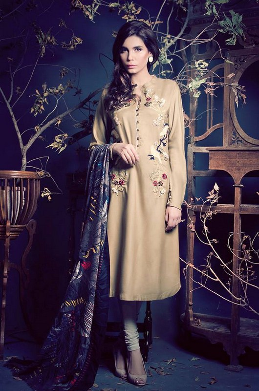 Ethnic By Outfitters Winter Dresses 2013-2014 For Women 003