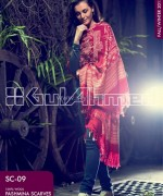 Gul Ahmed Latest Pashmina Scarves Collection 2013 For Winter1