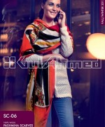 Gul Ahmed Latest Pashmina Scarves Collection 2013 For Winter4