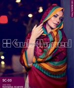Gul Ahmed Latest Pashmina Scarves Collection 2013 For Women10