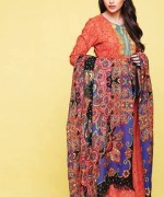 Kayseria Shawl Suits for Winter 2013 for Women 014