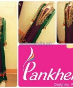Pankheri Party Wear Dresses 2013-2014 For Winter 2