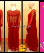 Pankheri Party Wear Dresses 2013-2014 For Winter 3
