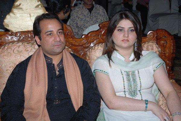 Rahat Fateh Ali Khan With His Wife Nida Khan.