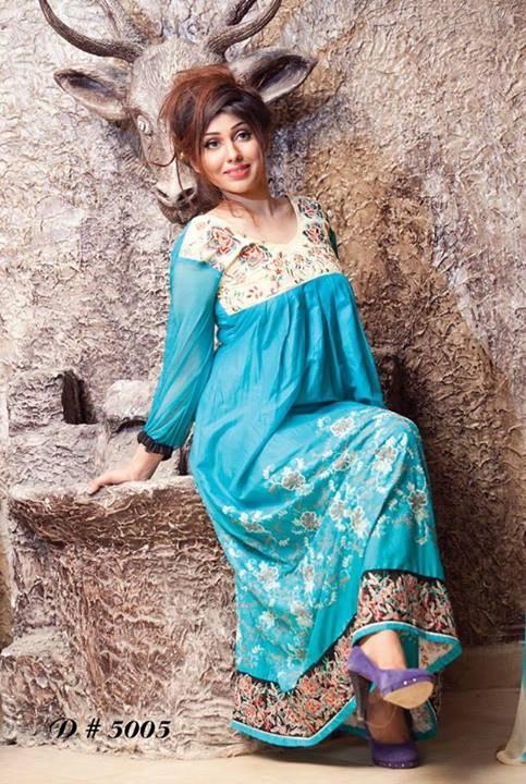 Rujhan Fabric Winter Dresses 2013 For Women 002