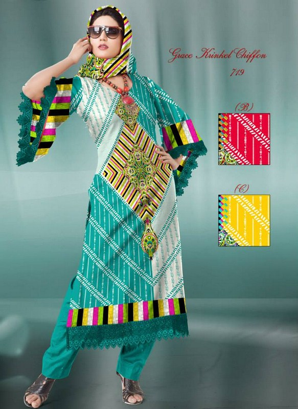 Al Hamra Textiles Chiffon Dresses 2013-2014 For Women 001