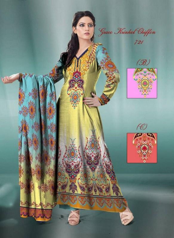 Al Hamra Textiles Chiffon Dresses 2013-2014 For Women 005