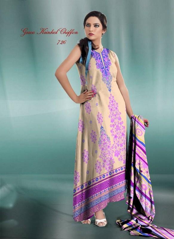 Al Hamra Textiles Chiffon Dresses 2013-2014 For Women