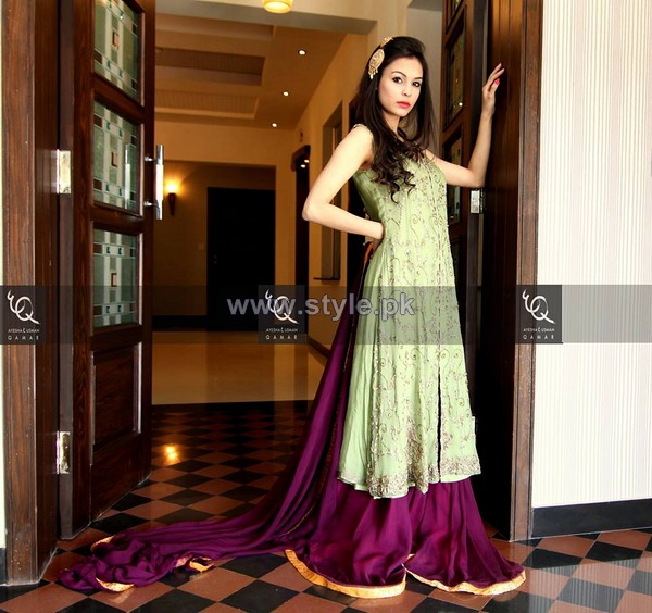 Ayesha and Usman Qamar Winter Dresses 2014 For Women 7