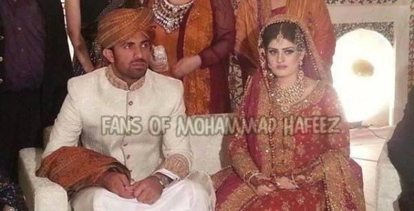Cricketer Wahab Riaz & Zainab Chaudhry's baraat picture