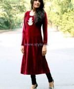 Damak Casual Wear 2014 Dresses For Winter 2