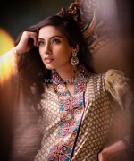 Ittehad Textile Printed Silk Dresses 2014 For Winter 1