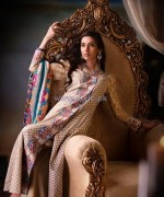 Ittehad Textile Printed Silk Dresses 2014 For Winter 3