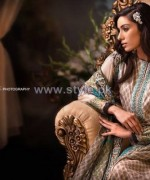 Ittehad Textile Printed Silk Dresses 2014 For Women 6