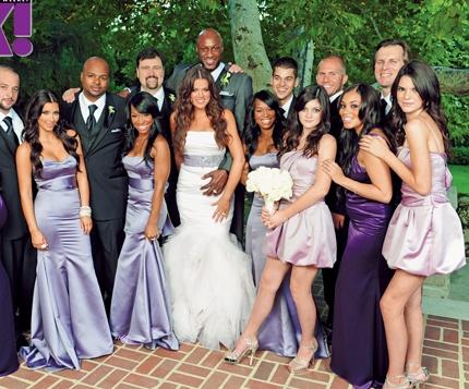 Khloe Kardashian And Lamar Odom Wedding Picture.
