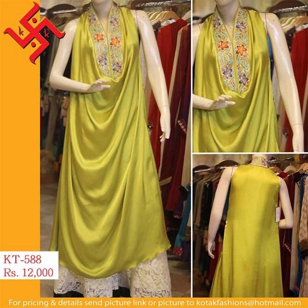 Kotak Fashion Winter Dresses 2014 For Women 006