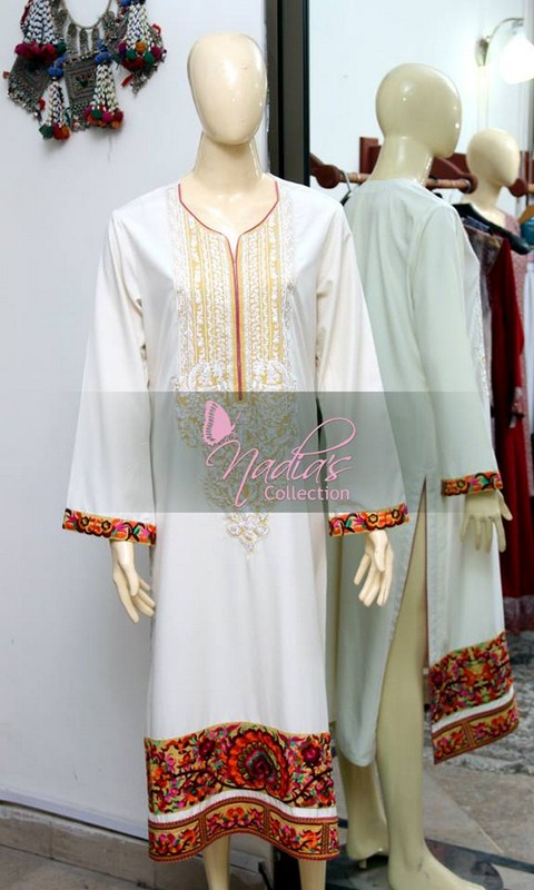Nadia's Collection Winter Dresses 2014 For Women 0011