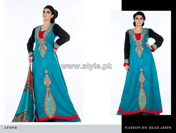 Nation by Riaz Arts Winter Dresses 2013-2014 Volume 2 6