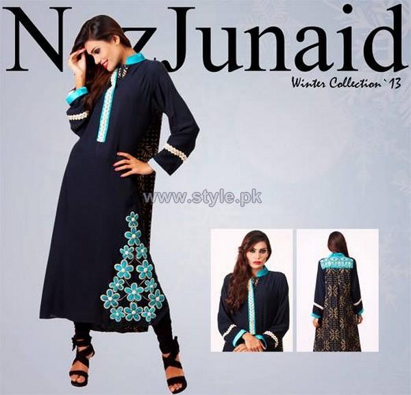 NazJuniad Winter Dresses 2014 For Girls 2