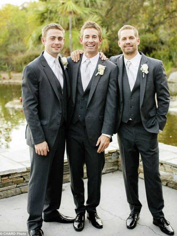Cody Walker, Caleb Walker And Paul Walker In Caleb's Wedding.