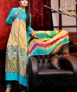 Rujhan Fabric Winter Dresses 2014 For Girls 2