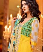 Rujhan Fabric Winter Dresses 2014 For Girls 4