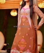 Rujhan Fabric Winter Dresses 2014 For Women 10