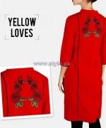 Yellow Western Wear Dresses 2014 For Girls 4