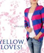 Yellow Western Wear Dresses 2014 For Women 9