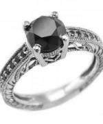 Black Diamond Engagement Rings001