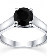Black Diamond Engagement Rings005