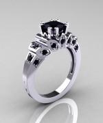 Black Diamond Engagement Rings009