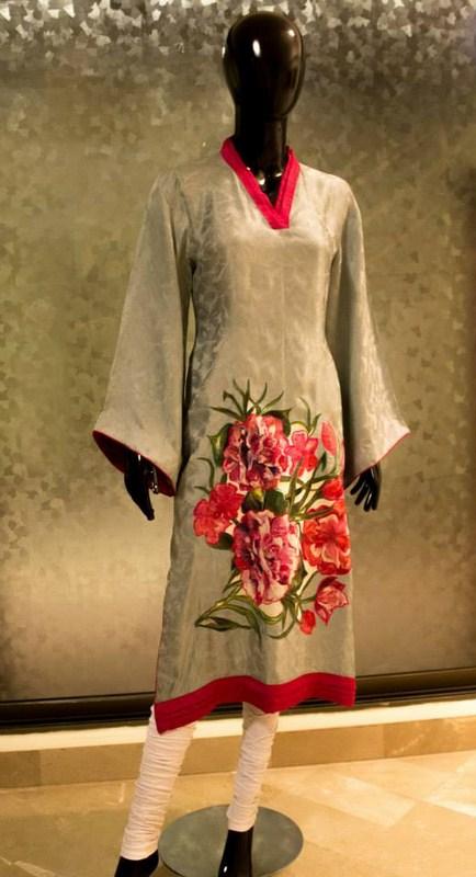 Deebaro Winter Dresses 2014 For Women 001