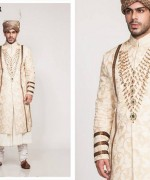 Fahad Hussayn Couture Winter Dresses 2014 For Men 003