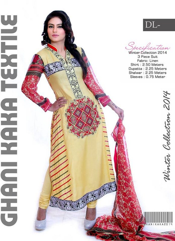 Ghani Textile Casual Dresses 2014 For Women 004
