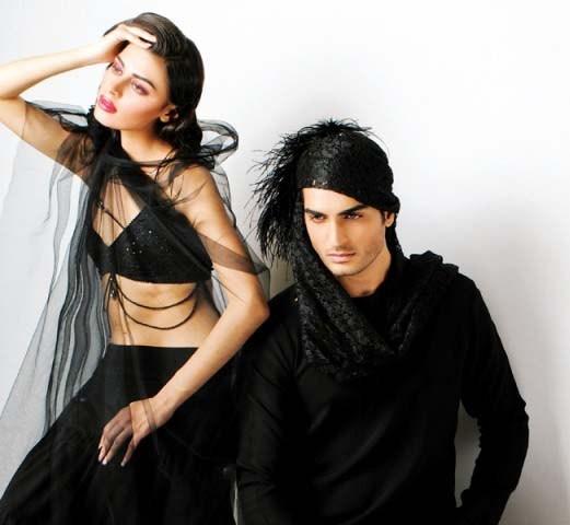 Mansoor Akram Western Dresses 2014 For Men And Women 003