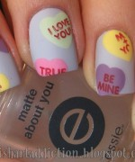 Nail Art Designs 2014 For Valentines Day 001
