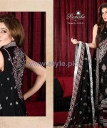 Ramsha Fashion Embroidered Dresses 2014 For Winter 7