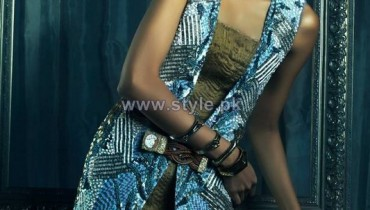 Sana Salman Party Wear Dresses 2014 For Women 5