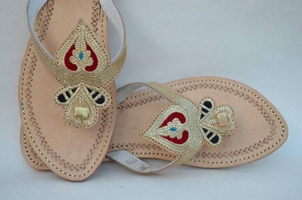 Zari Khussa Mahal Kolhapuri Shoes 2014 For Women 003