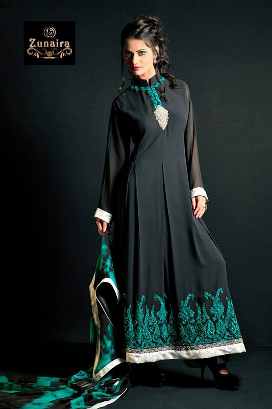 Zunaira's Lounge Party Dresses 2014 For Women 005