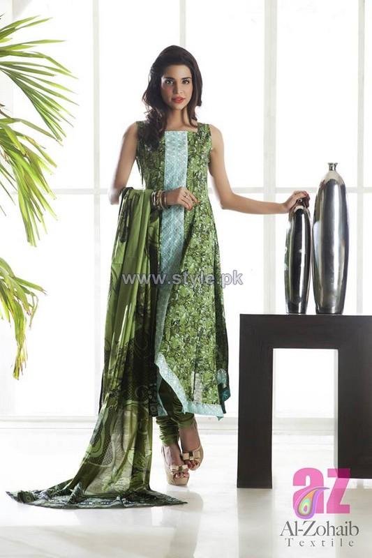 Anum Classic Lawn Dresses 2014 by Al-Zohaib Textile 3