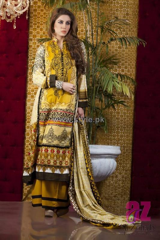 Anum Classic Lawn Dresses 2014 by Al-Zohaib Textile 5