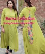 Barira Spring Summer Dresses 2014 For Girls 2