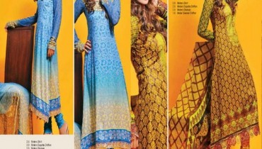 Dawood Textiles Spring Dresses 2014 For Women 002